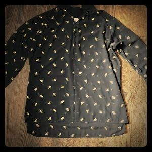 Sheer button shirt